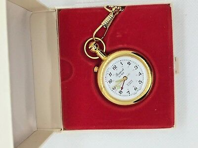 Rapport London Gold Pocket Watch New Old Stock with Alarm