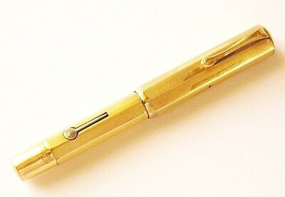 Fountain Pen Waterman 0552 1/2 With Gold Overlay Faceted Deco' Style ( 1930 )