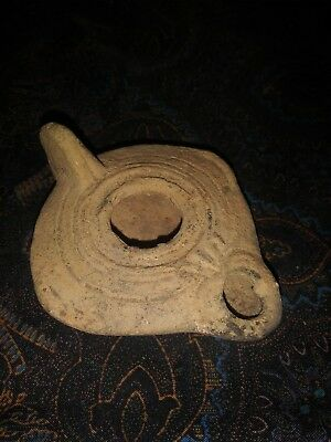 Museum 6Th To 8Th Century Israeli Provenance Beautiful Clay Fat Lamp