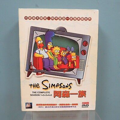 The Simpsons The Complete Season Series 1-5 Boxset Chinese Edition 24DVD