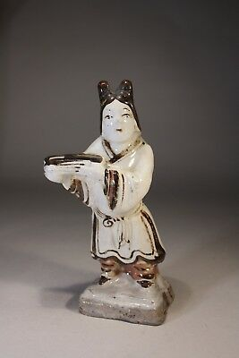 Antique Chinese Earthenware Cizhou Lady Figurine
