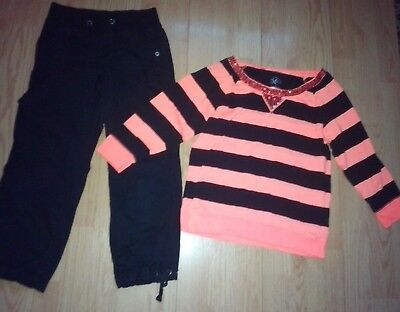 Justice 2 Piece Girls Outfit Size 12 & 12 Slim