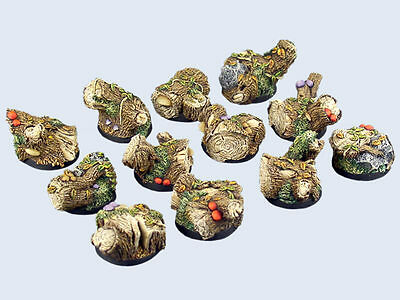 Micro Art BNIB Forest Bases, Round 25mm (5) B00521