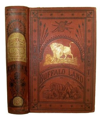 1873 WILD WEST Frontier Life INDIAN WAR Western BUFFALO HUNTING Santa Fe TEXAS