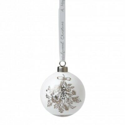 Wedgwood 2018 Holly Bauble Ornament 40032844.new In Box
