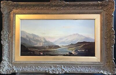 Charles Leslie (1835-1890) Large Signed Oil 1873 - Fine Welsh Mountainous Valley