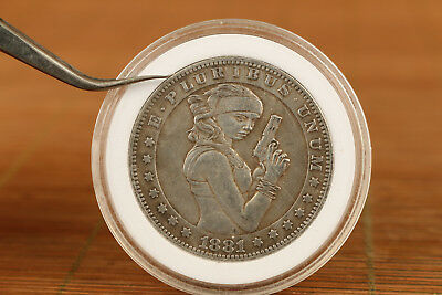 Foreign Silver Copper girl COINS Commemorate Art Modern valuable gift