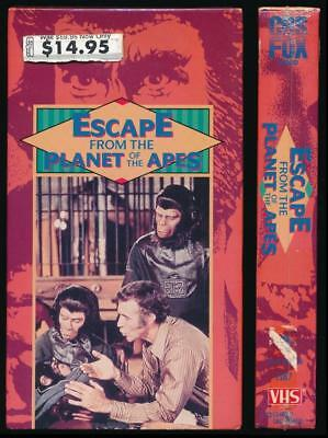 CBS Fox VHS Escape from the Planet of the Apes 1971 Roddy McDowall Sci Fi Cult