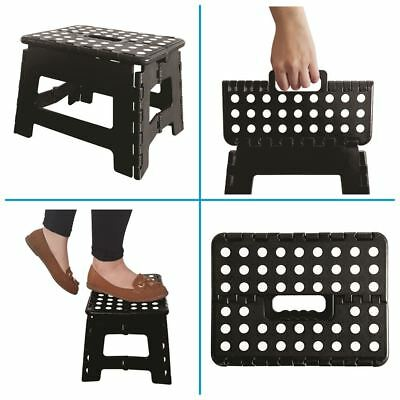 2x Home Kitchen Garden Durable Plastic Multi Purpose Foldable Foot Step Up Stool