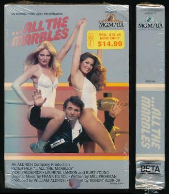 MGM/UA Betamax NOT VHS All the Marbles 1981 Peter Falk Female Wrestlers Comedy