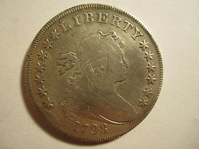 nice 1798 US bust dollar silver coin AS SHOWN *3033