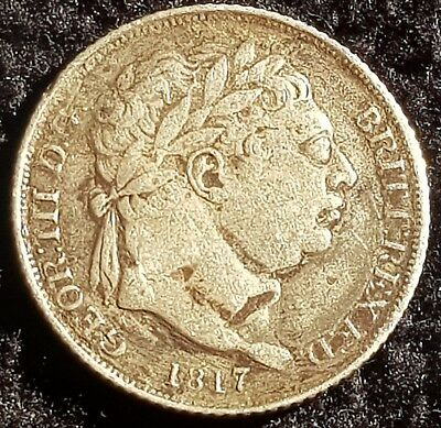 1817 Sixpence George III .925 Silver British Penny 6d Coin - Laureate Bust Lot 3