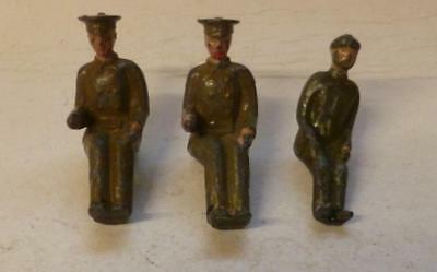2 Britains Vintage Lead Army Lorry Drivers Plus Another - 1930/40's