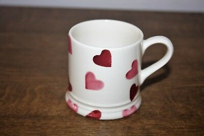 "2008 Emma Bridgewater ""Pink Hearts"" English Espresso Small Mug"