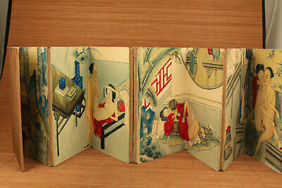5 different scene art Scrolls book rare Japanese Chinese printing painting deco
