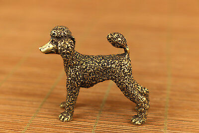 chinese old bronze hand carved toy poodle statue collectable gift netsuke