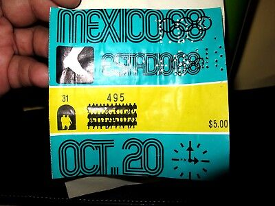 Orig.Ticket Olympic Games Mexico 1968 - Athletics  ATLETISMO 20 .OCT.1968