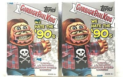 2019 TOPPS GARBAGE PAIL KIDS WE HATE THE 90s BLASTER BOX  ( 2 BOX LOT )