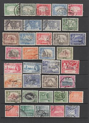 Aden fine used collection, 50 stamps.