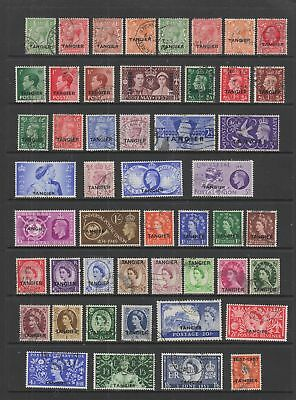 Tangier , fine used collection , 57 stamps.
