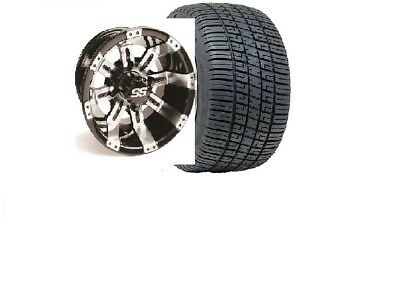 """Club Car DS or Precedent Golf Cart Part 10"""" Wheel/Tire Assembly 205/50-10"""