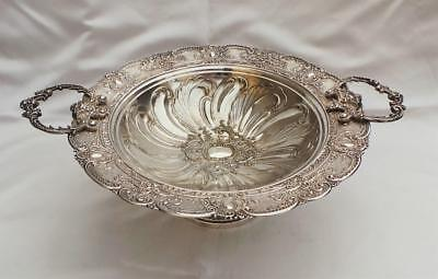 Magnificent Antique Continental / French Silver Plated Repousse Work Fruit Bowl