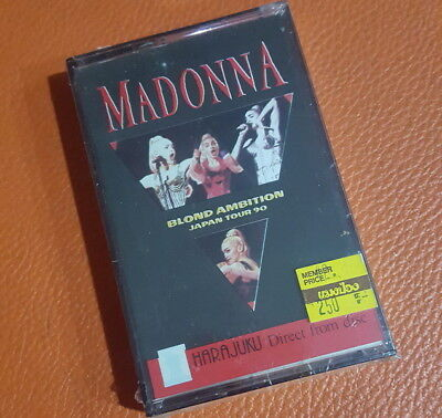 "Madonna ""Blond Ambition Japan Tour 90"" Thai Cassette ++Rare++ Metal Tape Type V"