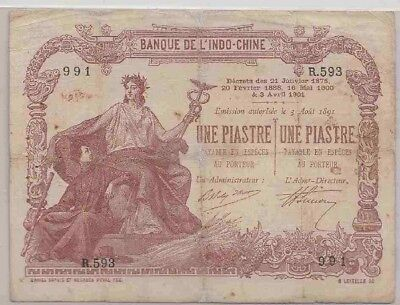 Earlier Indochina notes =Une Piastre/Une Piastre=1901--P#26