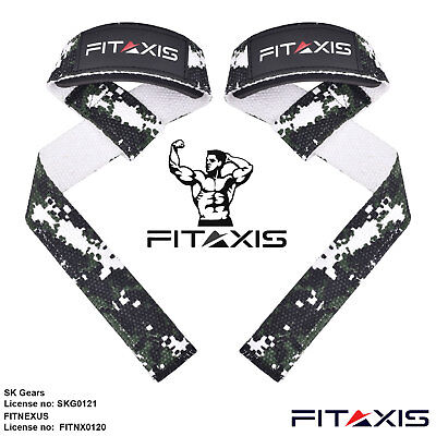 FITAIXS Weight Lifting Powerlifting Deadlift Squat Forearm Barbel Grip Straps