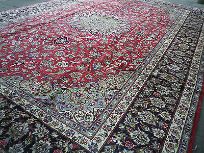 Old Traditional Hand Made Persian Rugs Oriental Wool Red Large Carpet  500x350cm