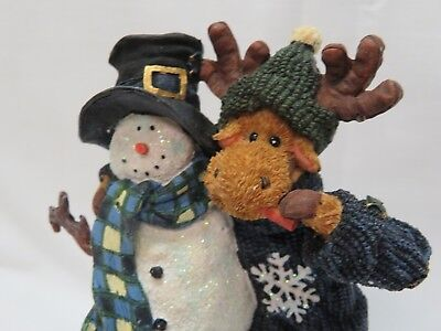 Frosty With Munchin' Mcmoose- Boyds Bears & Friends The Moose Troop Series