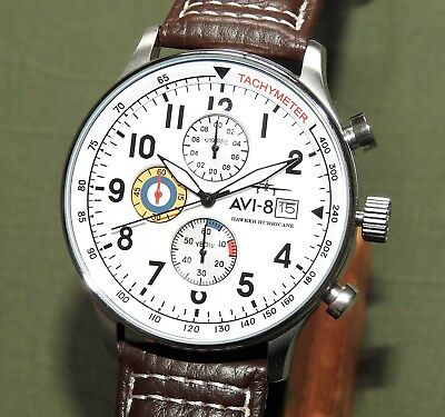 AVI-8 HAWKER HURRICANE QUARTZ DATE CHRONOGRAPH WRIST WATCH Pilot Flight 4011-01