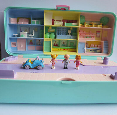 Mini Polly Pocket High Street Trinket Money Box 1989 100%komplett High Street