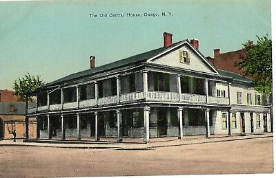 Antique Post Card The Old Central House Owego New York NY 1907