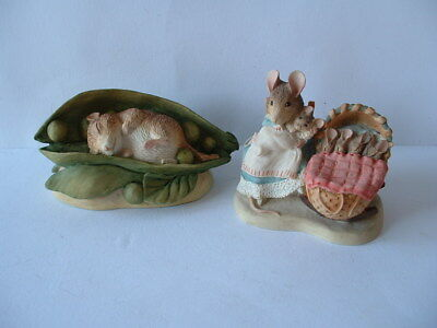Border Fine Arts World of Beatrix Potter Figures - HUNCA MUNCA & TIMMY WILLIE