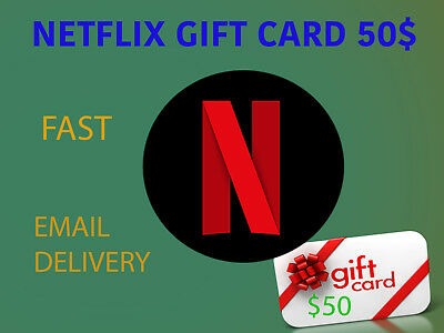 Netflix 50 USD GIFT CARD (INSTANT DELIVERY - NETFLIX $50 GIFT CARD)