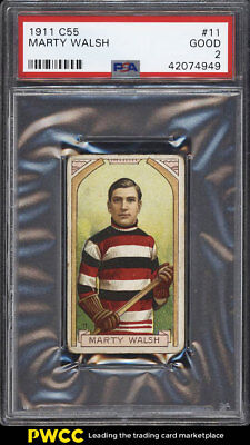 1911 C55 Hockey Marty Walsh #11 PSA 2 GD (PWCC)