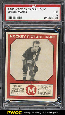 1933 V252 Canadian Gum Hockey Jimmie Ward PSA 5 EX (PWCC)