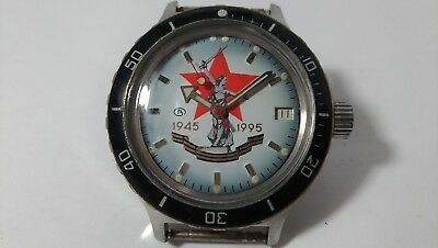 """all steel Wostok Automatik Amphibian 200m Diver 2416 """"Victory Day"""" made in USSR"""
