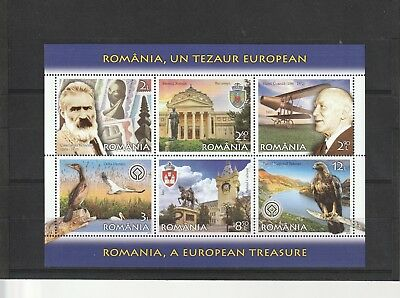 2019 Romania Stamps Europe Treasure Animals Art History Planes Ms Mnh