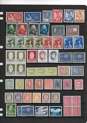 Norway - MNH collection on 4 scans   (see desc)