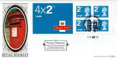 BENHAM D476 4 x LARGE 2nd CLASS BOOKLET PANE FDC15-8-06 ROYAL MAIL WINDSOR HS F3