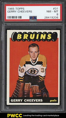 1965 Topps Hockey Gerry Cheevers ROOKIE RC #31 PSA 8 NM-MT (PWCC)