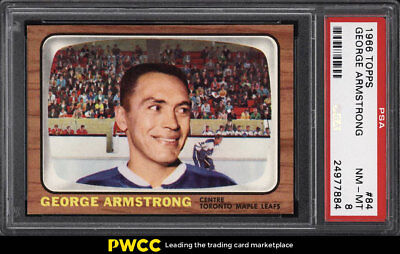 1966 Topps Hockey George Armstrong #84 PSA 8 NM-MT (PWCC)