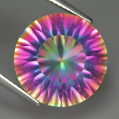 9.91 Ct Natural Brazil Multi-Color MYSTIC QUARTZ Round Gemstone @ See Video !!