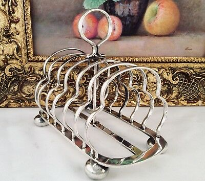Superb WALKER & HALL 19th Century Silver Plated Footed Toast Rack C1890 A/F