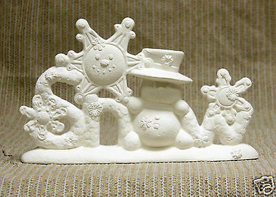 Ceramic Bisque Snow Creations Clay Magic Mold 2269 U-Paint Ready To Paint
