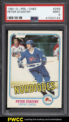 1981 O-Pee-Chee Hockey Peter Stastny ROOKIE RC #269 PSA 9 MINT (PWCC)