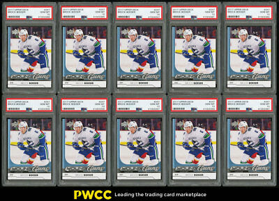 Lot(10) 2017 Upper Deck Young Guns Brock Boeser ROOKIE #247, ALL PSA 10 (PWCC)