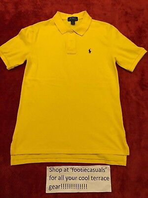 Boys Ralph Lauren Polo Shirt-Yellow-Youth Large (12 Years)